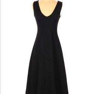 ASOS Casual Black Midi Dress Calf Length